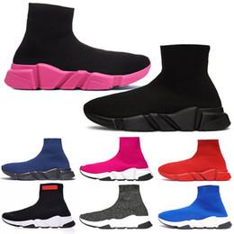 Botas de brilho para mulher on-line-balenciaga speed trainer sapatos Sapatilhas Tripler Black designer de luxo das mulheres sapatos casuais glitter étoile marca tênis meias botas botas corredores mens meias sapatos
