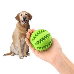 ball foods Coupons - Pet Rubber Leaking Food Ball Dog Cat Chew Toy Interactive Elasticity Watermelon Bite Resistant Dog Teeth Clean Play Ball 5 CM