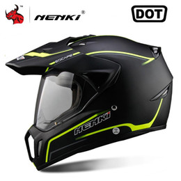 2019 46 helm Schutzausrüstung NENKI Full Face Motorrad Herren Motocross Helm ATV Moto Helm Cross Downhill Offroad Helm Herren Casco Moto DOT