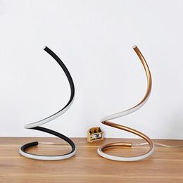 Luzes de mesa com encadernação on-line-2019 Arte Moderna Minimalista levou Candeeiros De Mesa UE / EUA Plug Moda Wedding Room LED Desk Lamp Sala de estar Luzes Da Tabela de Iluminação Para Casa