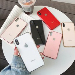 carteira do telefone celular para iphone 5s Desconto Aplicável ao shell do iPhone 678 Plus x XR banhado a telefone móvel de vidro