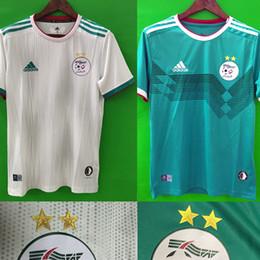 2019 football de champions Champions de la Coupe d'Afrique 2019 Algerie 2 étoiles MAILLOT DE FOOTBALL AFCON MAHREZ FEGHOULI BRAHIMI BOUNEDJAH BOUAZZA 19 20 algerie CHEMISES DE FOOTBALL promotion football de champions