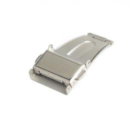 Argentina Hebilla de cierre de doble pulsador de acero inoxidable para correa de reloj Despliegue de la hebilla plegable 14mm, 18mm, 20mm, 22mm, 24mm cheap watch band deployment buckle Suministro
