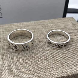 anéis de rocha escalando Desconto 2020 Novo Produto 925 Anel de Prata de alta qualidade casal anel Moda Homens Jóias Anel massa Set Atacado na China
