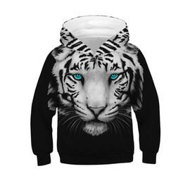 Nueva moda Sudaderas con capucha en 3D Baby Boys Girls Sudaderas en 3D Impresión digital Blanco Negro Tiger Thin Hoodies con capucha desde fabricantes