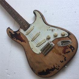 elektrischer gitarrenkörper Rabatt Kostenloser VersandRory Gallagher Signature ST Relic E-Gitarre 100% handgefertigter Erlenkorpus