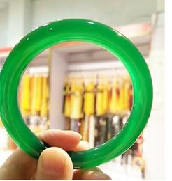Jade verde-gelo on-line-Pulseira de ágata puro verde rodada de gelo jade pulseira de crianças Jade Jade pulseira