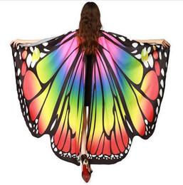 2019 lila partei gläser Chamsgend Drop Shipping HEIßER Frauen Butterfly Wings Pashmina Schal Schal Nymph Pixie Poncho Kostüm Zubehör