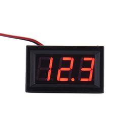 Voltímetro novo da tensão de dois fios da exposição dois do painel LCD do diodo emissor de luz da CC 2.5-30V dois de