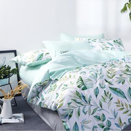 2019 set di trapunta in cotone king size Biancheria da letto in cotone per la casa Set di biancheria da letto Queen King Simple Pineapple Cartoon Quilt Cover Set di 4 pezzi sconti set di trapunta in cotone king size