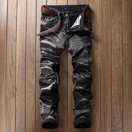 Argentina Motociclista motociclista pantalones vaqueros del dril de algodón para hombre hip hop jogger pantalones marca recta pantalones de carga de algodón pantalon mezclilla hombre cheap mens cotton motorcycle pants Suministro