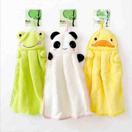 limpiar nuevo Rebajas Niña linda toalla nuevo diseño de dibujos animados toallas confort tela felpa dibujos animados animal limpia colgando toalla de baño