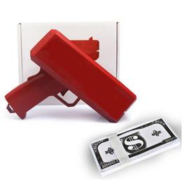 Red Fashion Cash Cannon con banconote da 100 pezzi Make it Rain Money Gun Regalo di Natale Party Game Toys da