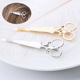 2pcs fascino donna signora ragazze forbici forma fermagli per capelli barrettes forcina accessori decorazioni per capelli da