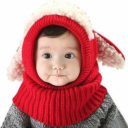 2020 super boy beanie Cabritos del niño del muchacho del bebé del bebé oídos lindos sombrero caliente del sombrero del nuevo invierno caliente super Beanie con capucha de punto con orejeras casquillo de la bufanda super boy beanie baratos