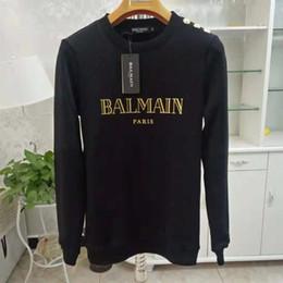 Argentina Balmain Hoodies Mens diseñador Hoodie Street Hip Hop de algodón de alta calidad Loose Fit para mujer de lujo con capucha sudadera cheap loose sweatshirts Suministro