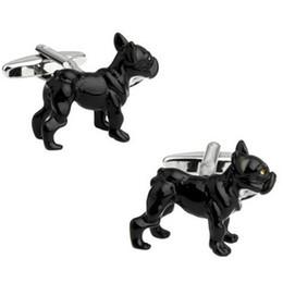 gemelli di lupo Sconti Camicie Suit Unisex quotidiano francese Black Wolf Dog gemelli degli uomini Cuff Pulsanti di personalità della novità di alta qualità Gemelli da regalo