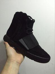 2020 prateleira de sapato Prateleiras Kanye West 750 Runner Luz Brown Grey Gum ankle boots Triplo Homens alta Running Shoes Skate Sports Shoes Sneakers Athletic prateleira de sapato barato