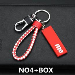 2019 charme libellule rouge Porte-clés de luxe de conception clés Boucle marque de mode main Keychain élégant clé boucle 5 couleurs en option de haute qualité avec la marque Box
