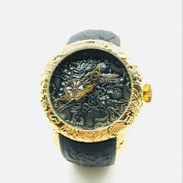 Reloj de cuarzo INVICTAS de lujo de alta calidad para hombres Día de ocio Reloj deportivo Diamond Dragon Totem Cinturón de silicona desde fabricantes