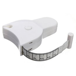 2019 diferentes tipos de metales Precisa la aptitud del cuerpo calibrador de las grasas de cinta de medición Cuerpo Gobernante Medida cinta mini lindo Medir blanca gota ShippingAA-1227