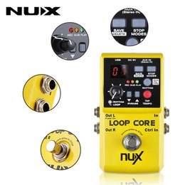 registrazioni elettriche Sconti Chitarra Elctric core NUX Loop Core Effect Chitarra Effetti a pedale elettrico Pedale effetto a percussione durevole 6 ore di registrazione