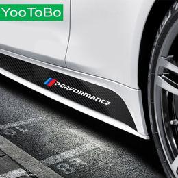 decalques laterais para carros Desconto Estilo do carro mais novo desempenho m tarja lateral saia peitoril adesivo decalque para bmw f30 f31 x5 f15 g30 f20 f90 e90 f10 f11 f01 f02