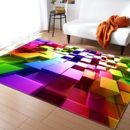 2019 grüne tischmatten Nordischen Stil Geometrische Muster 3D Teppich Große Größe Wohnzimmer Schlafzimmer Tischdecke und Teppich Rechteckige Rutschfeste Bodenmatte günstig grüne tischmatten