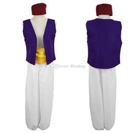 aladdin cosplay Sconti La lampada di Aladino Prince Aladdin Cos outfit moda Uomo adolescente Costume Cosplay cartoon Halloween Makeup party Abbigliamento C6861