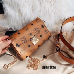 Lista de tops online-2019 Nuevo listado Envío gratis diseñador de las mujeres bolso de cuero genuino moda de calidad superior Pequeño bolso de cinturón de caja
