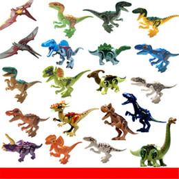 blocos de construção do castelo de brinquedo de plástico Desconto Mini figuras Jurassic Park Dinossauro blocos 8 pcs muito Velociraptor Tyrannosaurus Rex Blocos de Construção Conjuntos Crianças toy Bricks presente D0058