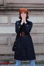 2019 leinwandgraben Frauen lange Trenchcoat einfarbig schlanke Trenchcoats wasserdicht Zweireiher Windjacke Mode klassischen britischen Windjacke hot s