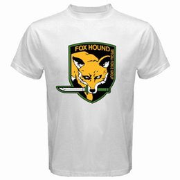 fox gear Promo Codes - FOX HOUND FOXHOUND Special Force Metal Gear Solid Men's White T-Shirt jersey Print t-shirt jeans Print Classic Quality High t-shirt