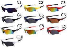 Solo occhiali da sole online-Estate più nuovo stile Solo occhiali da sole 10 colori Occhiali da sole Uomo occhiali da bicicletta Nizza Sport occhiali da sole Dazzle Color Occhiali MOQ 10 coppie