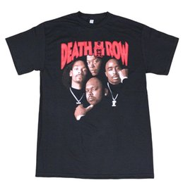 Hip hop t shirt chinois en Ligne-Death Row Records Tupac Dre Affiche Le T-shirt Homme Adulte T-Shirt T-shirt En Coton Manches Courtes Hip Hop Chinois