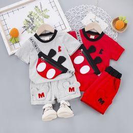teste padrão do bodysuit das meninas Desconto 2PCS criança crianças Bebés Meninos Outfits T-shirt Tops + Pants Meninas Outfits Set Meninos roupas de verão agasalho