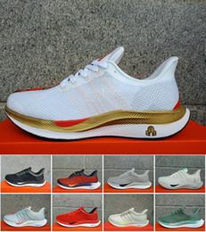 sports shoes e8ca1 40a85 2019 Nuovo Zoom Pegasus Turbo React Element Air Running Shoes Pegasus 35  Turbo Puro Grigio Grigio Punch Nero X Scarpe da ginnastica Zapatos Taglia  36-45 a ...