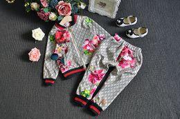 Survêtement De Mode 2019 Bébé Automne Floral Vêtements Set Enfants Garçon Fille À Manches Longues Top Fleurs Pantalon 2 Pcs Costumes ? partir de fabricateur