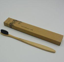nouvelle mode brosse à dents en bambou de l'environnement brosse à dents en bambou brosse à dents en bambou en nylon doux brosses à dents pour hôtel ? partir de fabricateur