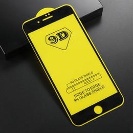 Ohne kleber online-9D volles gebogenes glas für iphone xs max xr xs vollkleber schutzfolie gehärtetes glas für samsung j7 2018 a6 huawei p smart ohne paket