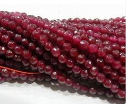 2019 pedras de jade vermelhas soltas FRETE GRÁTIS +++ Natural 4mm Facetado Brasil Red pedras Contas Soltas 15