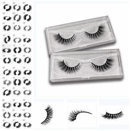 Canada Cils de vison cils de vison 3D 81 Design Cils naturels réutilisables à la main Naturel Populaire Faux Eeye Cils Maquillage outils KKA6714 cheap lash design Offre