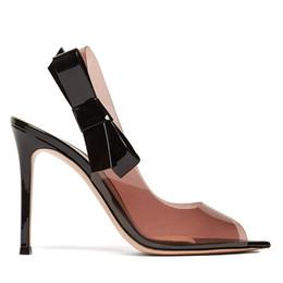 Canada 2019 printemps été élégante talons hauts clear PVC marque personnaliser Red Bottom chaussures argent Sexy talons aiguilles-chaussures de mariage robe cheap elegant sexy red dresses Offre