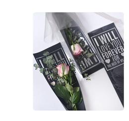 2019 papier d'emballage en argent Vente en gros de papier d'emballage de fleurs Opp + paper Set Silver Words Impression imperméable sans fleur sans maille 20 sets / bag promotion papier d'emballage en argent