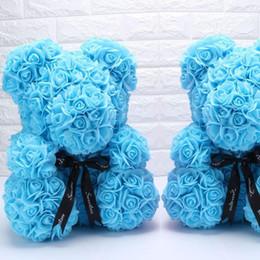 Romantische Rose Bär Puppe Hochzeit Schlafzimmer Dekoration Geburtstag Jahrestag Geschenke 6 Arten für Freundin schöne Kinder tragen Spielzeug von Fabrikanten