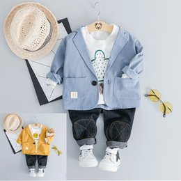 5a2845d070 baby boy set jeans Coupons - New Spring Baby Boys Clothes Set Kids T-shirt
