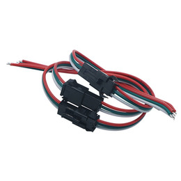 tira de enchufe macho Rebajas Edison2011 3pin Macho Hembra Led Conector Enchufe Cable de Alambre para WS2812B / WS2811 Módulos de Luz de Tira Led Lámpara Controlador de Cinta CCTV