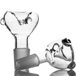 Tigelas de vidro transparente atacado caber todos os bongos de vidro com pequenas esferas de vidro 14,5 ou 18,8 tamanho da articulação masculina supplier clear glass beads de Fornecedores de contas de vidro transparente