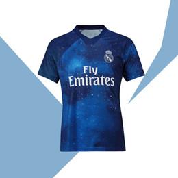 Versão especial on-line-2019 Real Madrid Edição Limitada camisa de futebol azul EA Sports Jerseys # 12 MARCELO # 10 MODRIC Camisas de futebol versão especial do Real Madrid