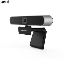 2019 hd mic Aoni Full HD 1080P WebCam Computadora Cámara con ordenador portátil con MIC incorporado Red doméstica Smart TV Live AF Web Cam Cámaras USB de belleza A30 hd mic baratos
